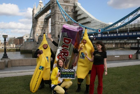 Divine, Dubble and Fairtrade Bananas in London