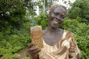 Rose Birago from Kuapa Kokoo, the cooperative that co-owns Divine Chocolate (photograph by Kim Naylor)