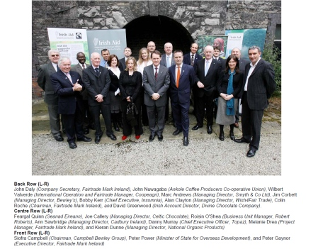 Irish business leaders at the launch of Fairtrade Fortnight 2009