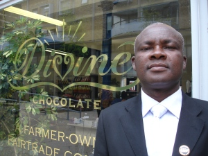 MD of Kuapa Kokoo ltd Kwasi Aduse-Poku in London this month