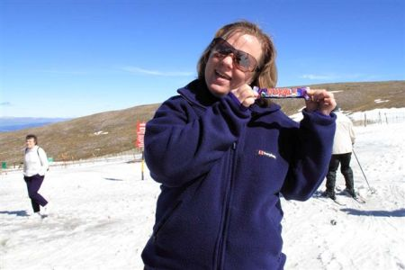Katie finds Dubble at Aviemore