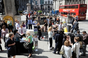 Crowds and stalls celebrating May Day (Phil Clark-Hill)