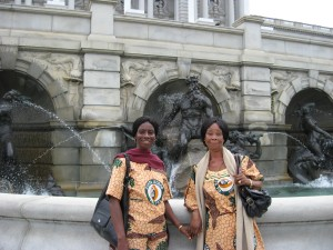 Cecilia and Kuapa colleague at the Library of Congress in Washington DC