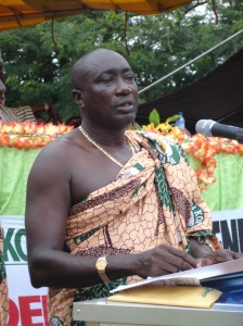 Mr Paul Celestine Kofi Buah, President of Kuapa Kokoo, and Board member of Divine Chocolate Ltd