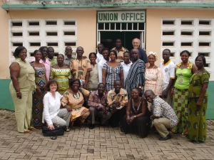 Kuapa Kokoo National Executive and staff. (Cecilia Appianim second from left)