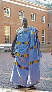 Kuapa Kokoo President Mr Buah outside Kensington Town Hall where the Fairtrade Commercial Conference took place