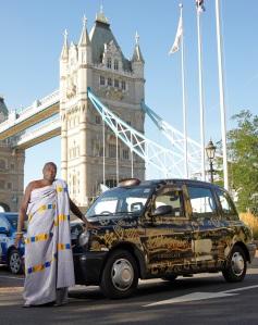 Mr Buah at Tower Bridge