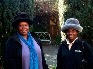 Comfort Kwaasibea and Comfort Asere comment on the waste of good farming space in my back garden