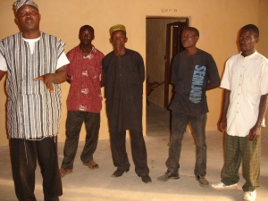 Ibrahim Moseray and members of the KAE team