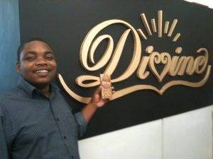 Masauko visiting Divine Chocolate