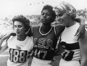 Wilma Rudolph (centre) - Olympic winner