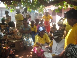 The women's group in Bipoa