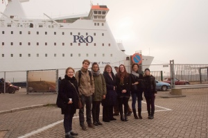 Meeting at the P&O ferry
