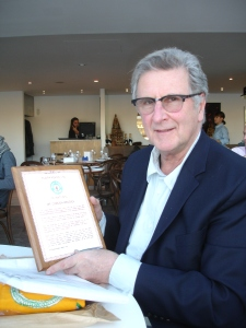 Gordon Roddick receives the Citation from Kuapa Kokoo