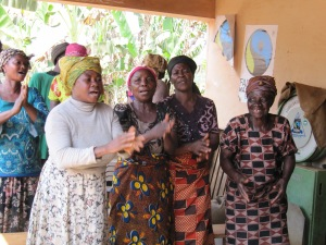 Women welcoming us to Amankwatia