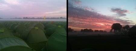 Camping at Windsor Racecourse